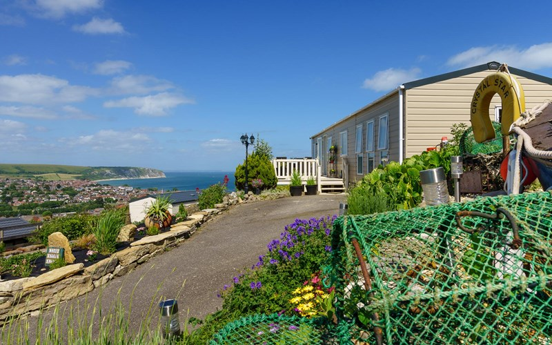 Swanage Bay View Caravan sea view