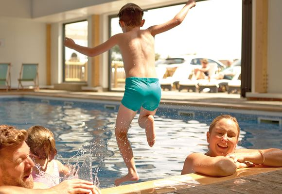Family indoor swimming pool Bay Colwell