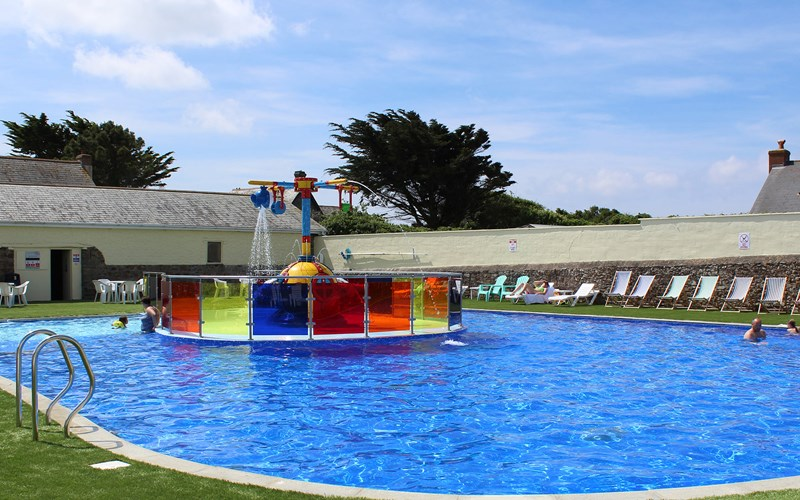 Bude Resort outdoor swimming pool