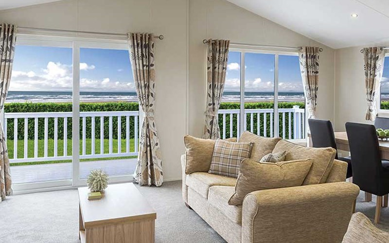 Superior Lodge Living Area Bude Holiday Resort