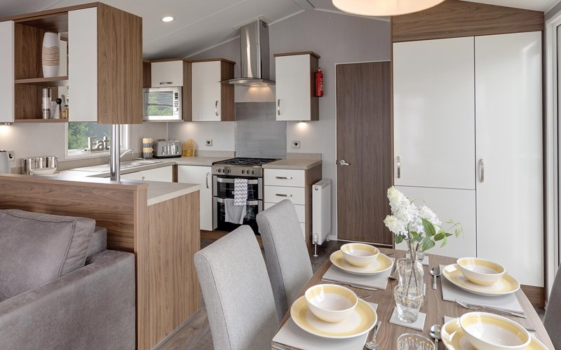 Superior Caravan dining kitchen Swanage