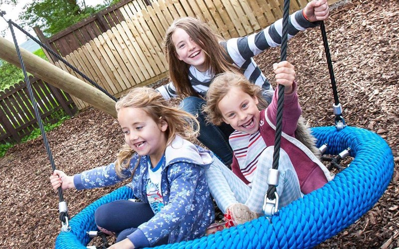 girls playing Moffat playground