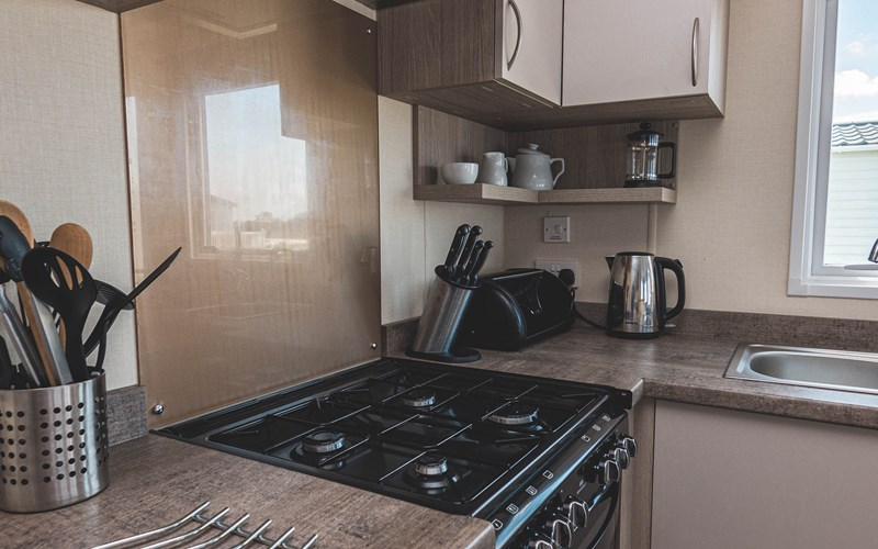 Newperran Superior Caravan Kitchen