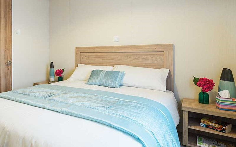 Superior Lodge Double Bedroom Bude Holiday Resort