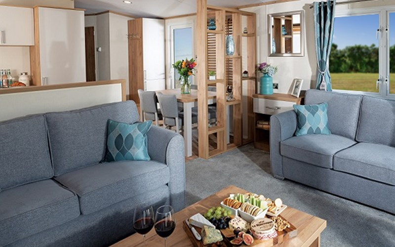 Newperran superior caravan living area