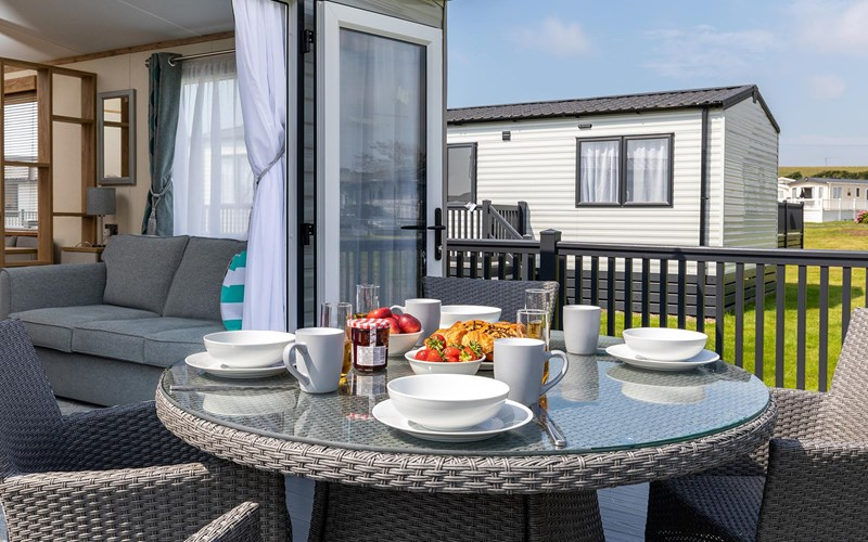 Bude Holiday Resort Lodge Decking
